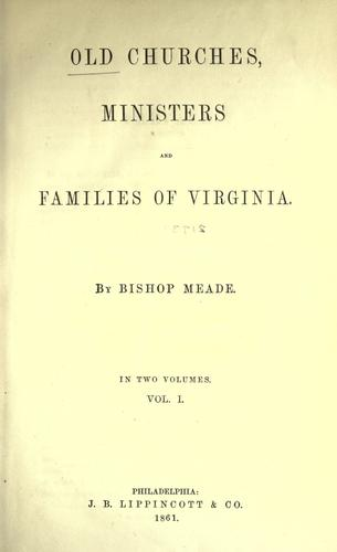 Download Old churches, ministers and families of Virginia