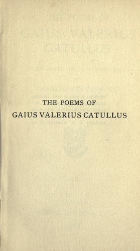 Download The poems of Gaius Valerius Catullus