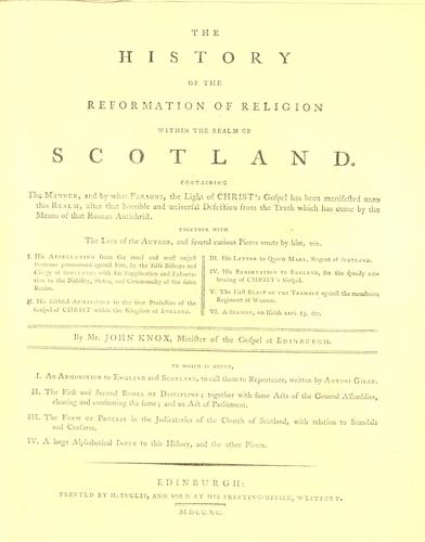Download The history of the reformation of religion within the realm of Scotland.