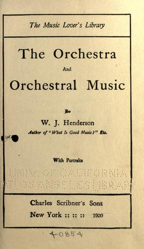Download The orchestra and orchestral music