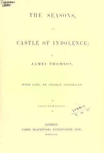 The seasons, and Castle of indolence