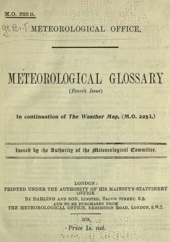 Meteorological glossary.