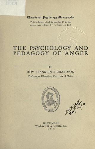 The psychology and pedagogy of anger.