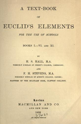 A text-book of Euclid's Elements for the use of schools by Euclid