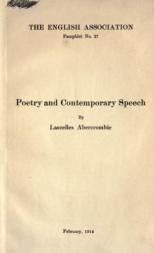 Poetry and contemporary speech.
