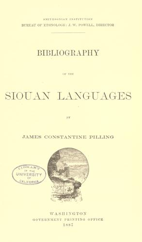Download Bibliography of the Siouan languages