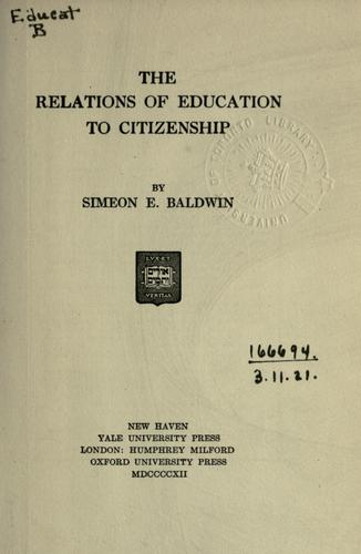 The relations of education to citizenship.
