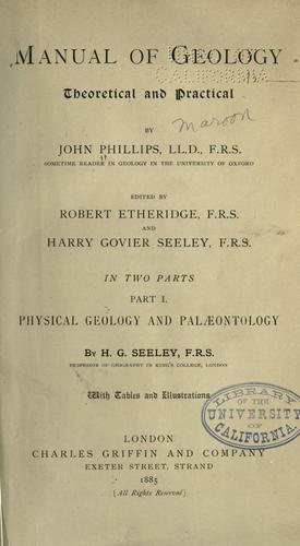 Download Manual of geology: theoretical and practical