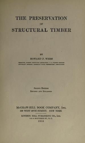 The preservation of structural timber.