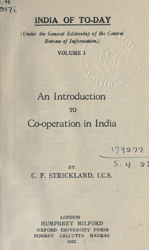 An introduction to co-operation in India.