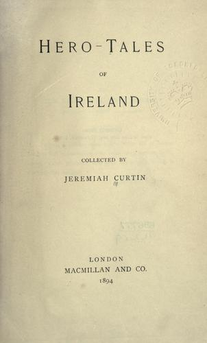 Hero-tales of Ireland.