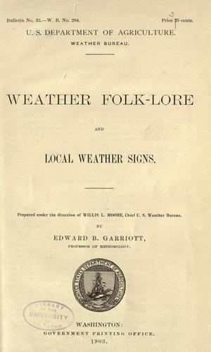 Weather folk-lore and local weather signs …