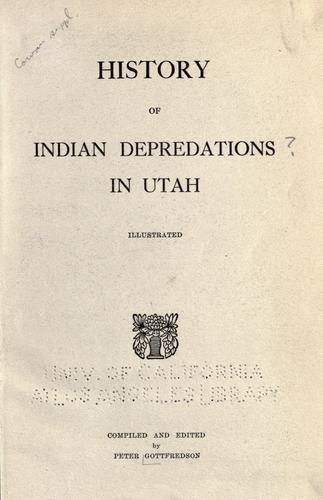 Download History of Indian depredations in Utah…