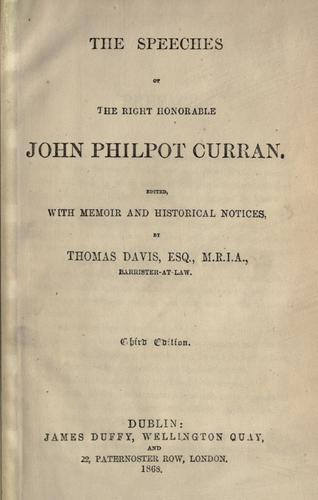 Download The speeches of the Right Honorable John Philpot Curran