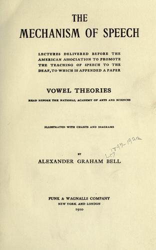 Download The mechanism of speech