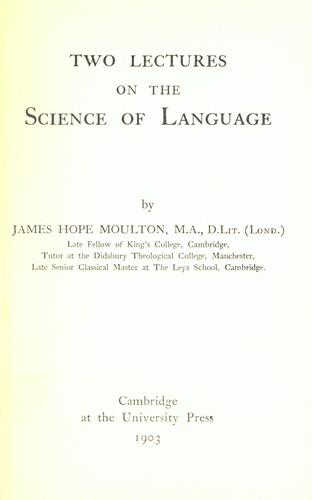 Download Two lectures on the science of language