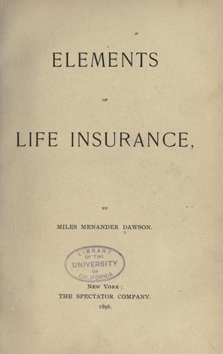 Download Elements of life insurance