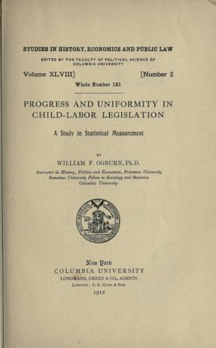 Progress and uniformity in child-labor legislation