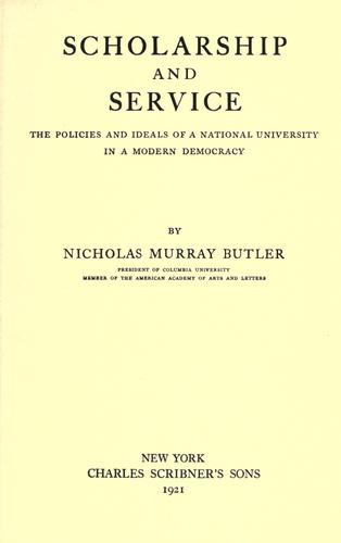 Scholarship and service