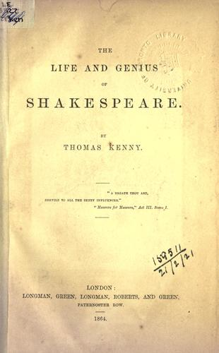 Download The life and genius of Shakespeare.