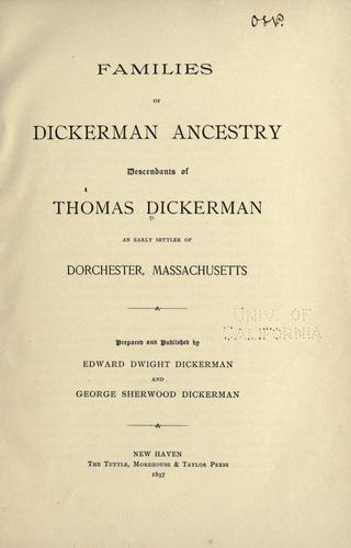 Download Families of Dickerman ancestry