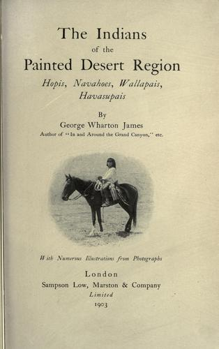 Download The Indians of the Painted desert region