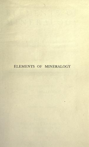 Download Elements of mineralogy
