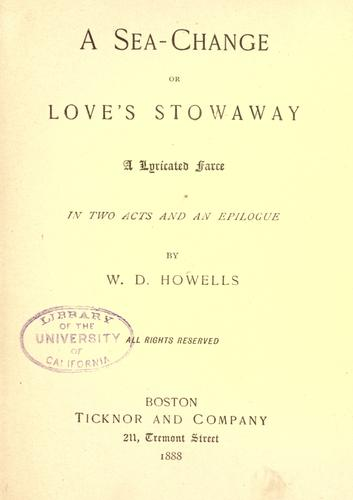 Download A sea-change, or, Love's stowaway