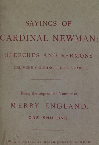 Download Sayings of Cardinal Newman.