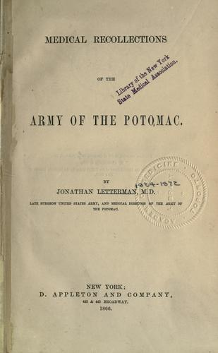Download Medical recollections of the Army of the Potomac