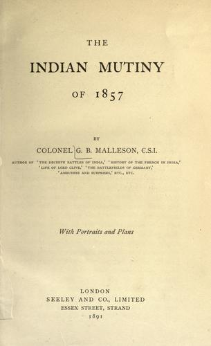 Download The Indian mutiny of 1857