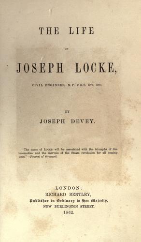 Download The life of Joseph Locke, civil engineer.