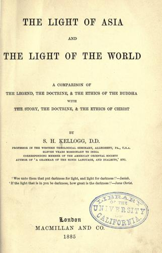 Download The light of Asia and the light of the world