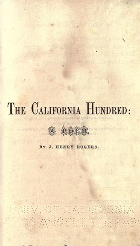 Download The California Hundred