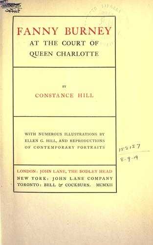 Download Fanny Burney at the court of Queen Charlotte.