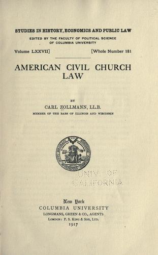 American civil church law