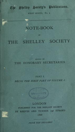 Note-book of the Shelley society.