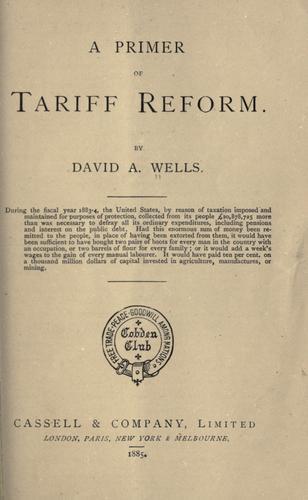 Download A primer of tariff reform.