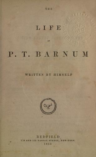 Life of P.T. Barnum.