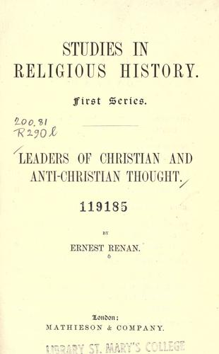 Download Studies in religious history.