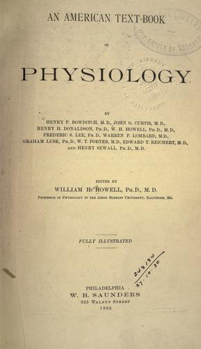 Download An American text-book of physiology.