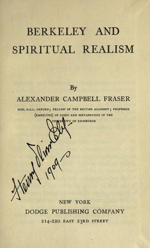 Download Berkeley and spiritual realism.