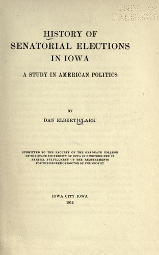 History of senatorial elections in Iowa