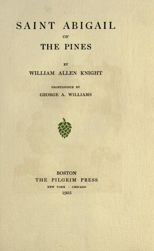 Saint Abigail of the pines by Knight, William Allen