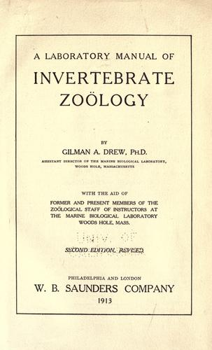 Download A laboratory manual of invertebrate zo©·ology
