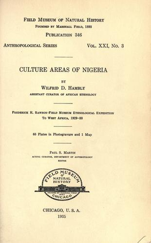 Download Culture areas of Nigeria