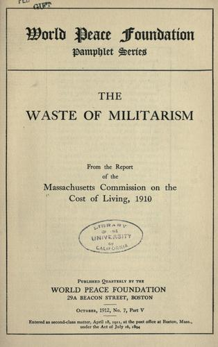 The waste of militarism