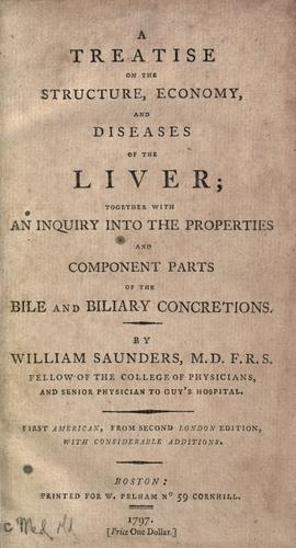 Download A treatise on the structure, economy, and diseases of the liver