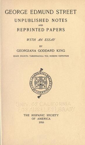 Download George Edmund Street