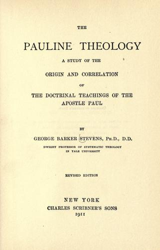 Download The Pauline theology